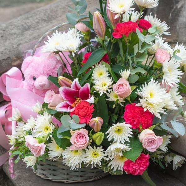 Flower Basket & Bear